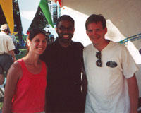 Cassie Hart, Kenny Garrett, and Kevin Hart 2001 Indianapolis Jazz Festival