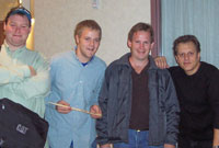 Donovan Hill, Rob Dickey & Kevin Hart with Dave Weckl in Springfield, 2005