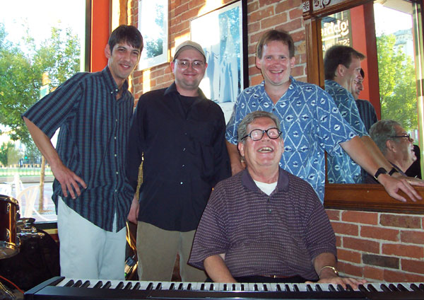 Mike Nellas, Jeff Magby, Donnie Heitler, and Kevin Hart at CD Release Performance at Robbie's